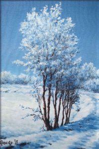 Neve a Salsasio - Olio su tela 20x30