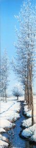 piccola roggia innevata - 20x80 Bordi dipinti