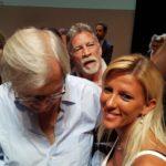 Sgarbi con la scultrice Viviana Avellino che nell'occasione mi rappresentava