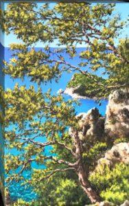 Alberi sul mare di Punta Crena