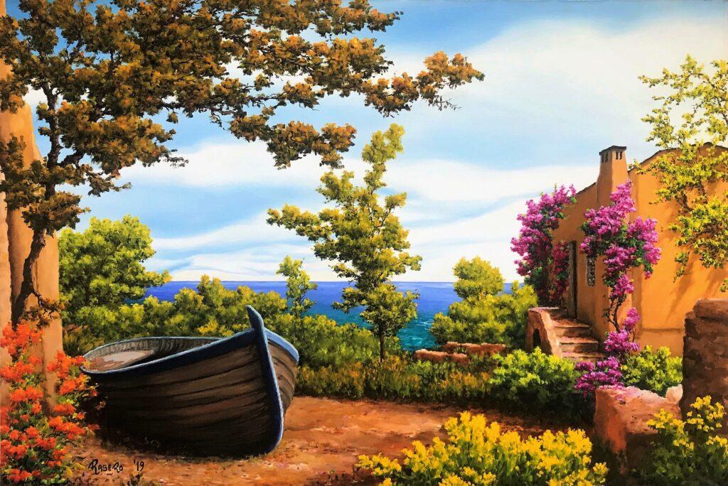 La barca in secca - Olio su tela 70x50